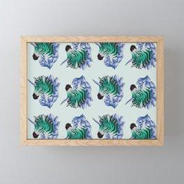 Aqua Zebracorn Framed Mini Art Print