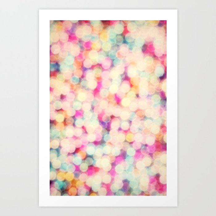 Retro Candy Bokeh Art Print By Sharonjohnstone Society6