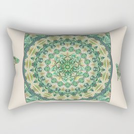 Luna Moth Meditation Mandala Rectangular Pillow