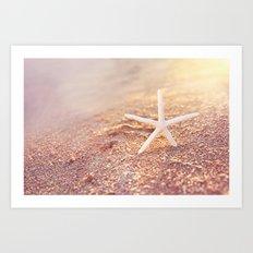 golden starfish Art Print