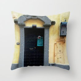 Door in Italian Village Throw Pillow