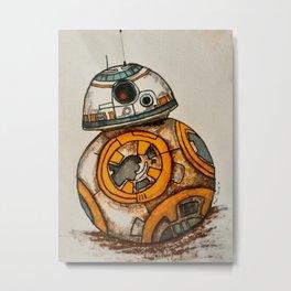 BB-8 Gets Dirty Metal Print