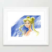 sailormoon Framed Art Prints featuring Princess Serenity by Keith Gutierrez