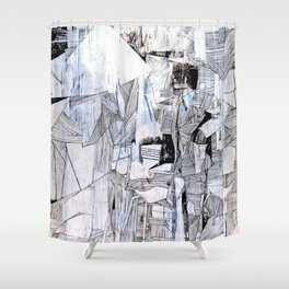Distant Folding Shower Curtain