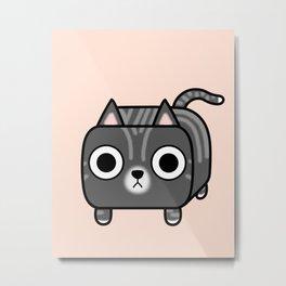 Cat Loaf - Grey Tabby Kitty Metal Print