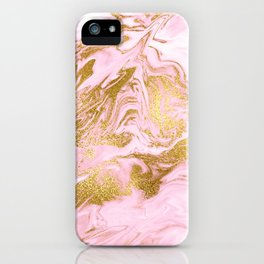 Rose Gold Mermaid Marble iPhone Case