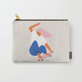 Skateboard girl Carry-All Pouch