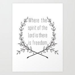 Freedom Itself Art Print