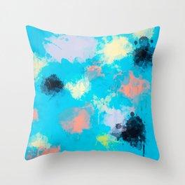 Abstract Paint splatter design Throw Pillow