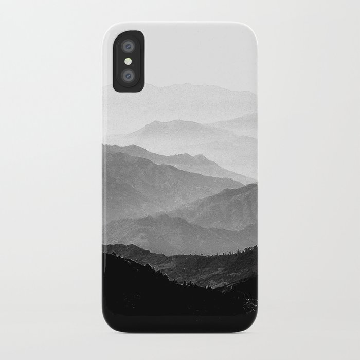 Mountain Mist - Black and White Collection iPhone Case