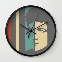 Bob Dylan Retro Homage Wall Clock