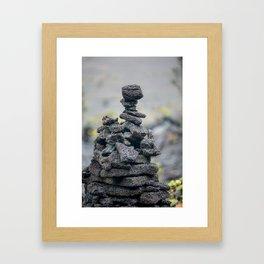 Stacked Volcanic Rocks Framed Art Print