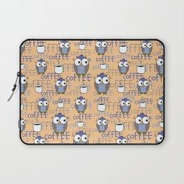 Orange & Blue Owls pattern Laptop Sleeve