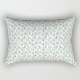 Tropical flowers and palm leaves pastel drawing, botanical pattern Rectangular Pillow