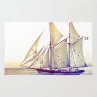 sail Area & Throw Rugs featuring Afternoon Sail by Thubakabra