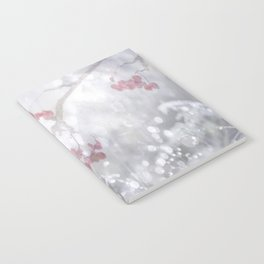 Winter Scene Rowan Berries With Snow And Bokeh #decor #buyart #society6 Notebook