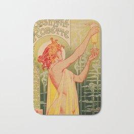 Classic French art nouveau Absinthe Robette Bath Mat