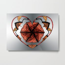 Hearts can be broken but strings will keep them together Metal Print