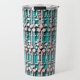 Abstract Coral Flowers Travel Mug