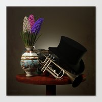 trumpet Canvas Prints featuring Trumpet by Joseph Miller