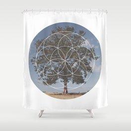 Free Tree Hugs - Geometric Photography Shower Curtain