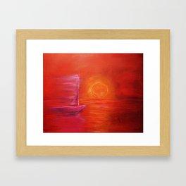 Red Sail Framed Art Print