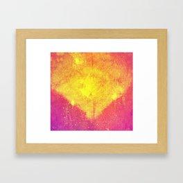 i am glowing Framed Art Print
