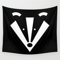 badger Wall Tapestries featuring Brock badger by Pygmy Creative