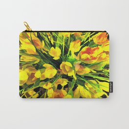 Painterly Yellow Crocuses Carry-All Pouch