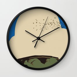 Traveling flock Wall Clock