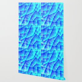 Abstract celestial pattern of blue and luminous plates of triangles and irregularly shaped lines. Wallpaper