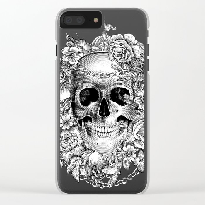 Natural Death BW Clear iPhone Case