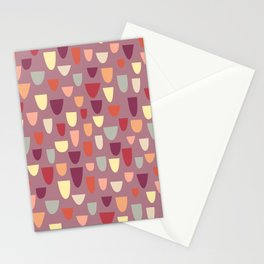 Nougat Mid-Century Pattern Stationery Cards