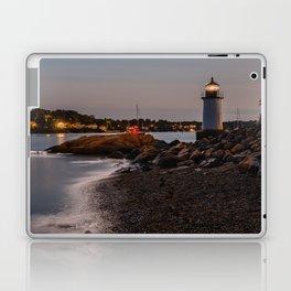 Lighthouse at night Laptop & iPad Skin