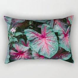 Caladium Leaf Pattern Rectangular Pillow