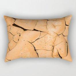 Cracked Terrain in Morocco Rectangular Pillow
