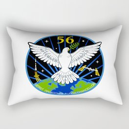Expedition 56:  Actual Flight Patch Rectangular Pillow