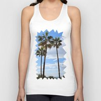 palm trees Tank Tops featuring Palm Trees by Rebecca Bear