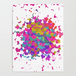 Heart leaf colorful Poster