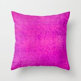 Grunge bright pink Throw Pillow