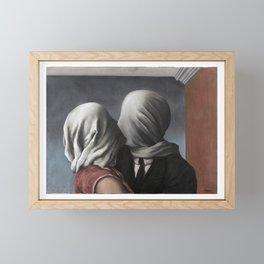 The Lovers II (Les Amants) 1928, Artwork Rene Magritte For Prints, Posters, Shirts, Bags Men Women K Framed Mini Art Print