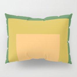 Block Colors - Green Yellow Cream Pillow Sham