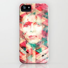 Bowie abstraction iPhone Case