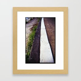 i want to go home without the education (35mm ) Framed Art Print