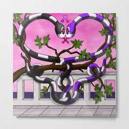 Hugs and Hisses Metal Print