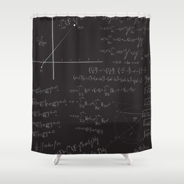 Mathematical seamless pattern Shower Curtain