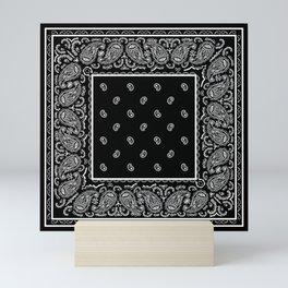 Classic Black Bandana Mini Art Print