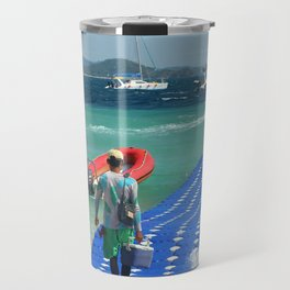 Floating pier, Banana beach, Koh Hey island, Thailand Travel Mug