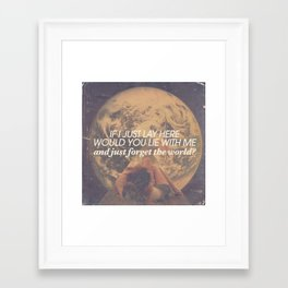 Snow Patrol - Chasing Cars Framed Art Print