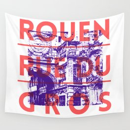 Rouen rue du Gros Wall Tapestry
